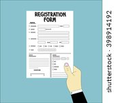 registration form   graphic | Shutterstock .eps vector #398914192