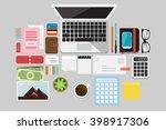 business flat lay | Shutterstock .eps vector #398917306