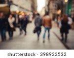 people rush on the street.... | Shutterstock . vector #398922532