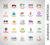 summer icons set isolated on... | Shutterstock .eps vector #398924266
