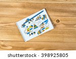 business workplace with stuff   Shutterstock . vector #398925805