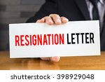 resignation letter  message on... | Shutterstock . vector #398929048