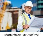 engineer builder at... | Shutterstock . vector #398935792
