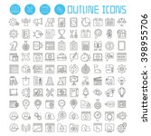 seo and development icons set ... | Shutterstock .eps vector #398955706