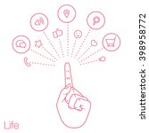 set of ad icons of network in... | Shutterstock .eps vector #398958772