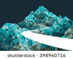 mountain road polygon... | Shutterstock .eps vector #398960716