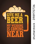 placards for wedding party | Shutterstock .eps vector #398970736