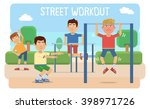illustration of people taking... | Shutterstock .eps vector #398971726
