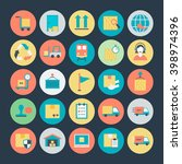 logistics delivery vector icons ... | Shutterstock .eps vector #398974396