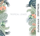 vector tropical foliage and... | Shutterstock .eps vector #398974636