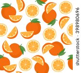 seamless pattern with oranges.... | Shutterstock .eps vector #398980696