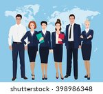 happy group of a professional... | Shutterstock .eps vector #398986348