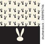 rabbit festive elegant... | Shutterstock .eps vector #398990746
