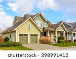 a perfect neighborhood. houses... | Shutterstock . vector #398991412