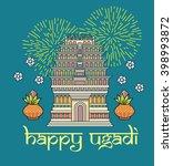 happy ugadi and gudi padwa...   Shutterstock .eps vector #398993872
