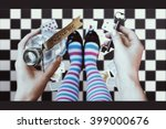 alice in wonderland. background.... | Shutterstock . vector #399000676