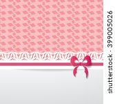 background with a pink pattern  ... | Shutterstock .eps vector #399005026
