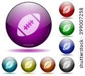 set of color rugby ball glass...