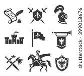 knight medieval history vector... | Shutterstock .eps vector #399018676