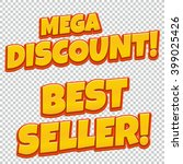 collection of mega discount and ... | Shutterstock .eps vector #399025426