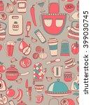 doodle set of kitchenware items | Shutterstock .eps vector #399030745