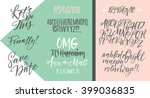 vector alphabet. hand drawn... | Shutterstock .eps vector #399036835