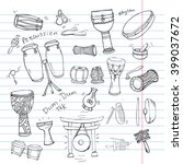 hand drawn doodles collection...   Shutterstock .eps vector #399037672