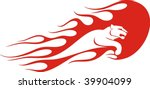 flaming panther vector...   Shutterstock .eps vector #39904099