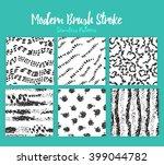 vector brush stroke patterns on ... | Shutterstock .eps vector #399044782