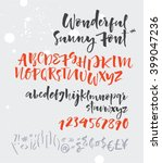 sunny script. vector alphabet.... | Shutterstock .eps vector #399047236