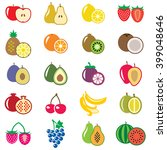 set of fruits flat vector... | Shutterstock .eps vector #399048646