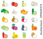 set of vegetables  vector... | Shutterstock .eps vector #399049375