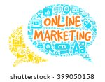 online marketing concept with...   Shutterstock .eps vector #399050158