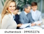 young and successful business... | Shutterstock . vector #399052276
