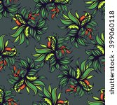 hand drawn floral seamless... | Shutterstock .eps vector #399060118