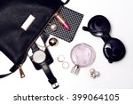 top view of female accessories...   Shutterstock . vector #399064105