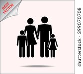 family sign icon  vector... | Shutterstock .eps vector #399070708