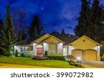 house at night in vancouver ... | Shutterstock . vector #399072982