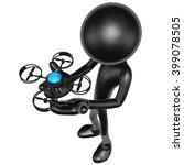 aerial drone 3d illustration... | Shutterstock . vector #399078505