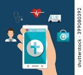 medicine online design  | Shutterstock .eps vector #399080392
