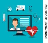 medicine online design  | Shutterstock .eps vector #399080452