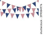 america triangle flag garland... | Shutterstock .eps vector #399084976