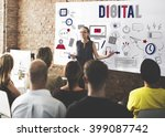 digital online technology... | Shutterstock . vector #399087742
