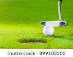 golf ball from the hole with... | Shutterstock . vector #399102202