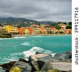 typical ligurian landscape of... | Shutterstock . vector #399117916