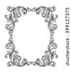 vintage baroque victorian frame ... | Shutterstock .eps vector #399127375