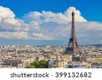 view of paris with eiffel tower ... | Shutterstock . vector #399132682