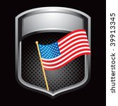 american flag in silver display | Shutterstock .eps vector #39913345