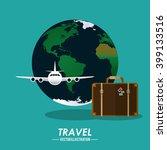 travel icon design | Shutterstock .eps vector #399133516