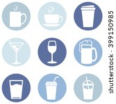 vector set of drinks icons. tea ... | Shutterstock .eps vector #399150985
